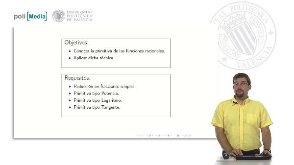 Primitivas de Funciones Racionales II
