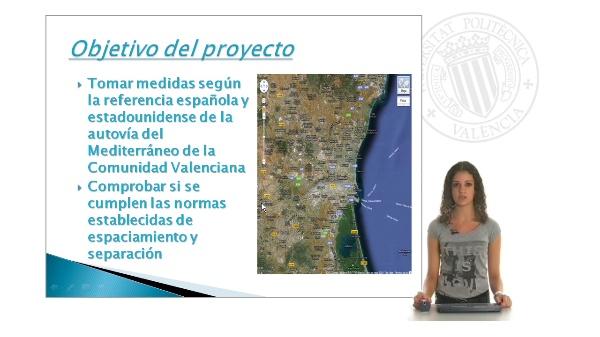 Estudio del espaciamiento de enlaces y separación de ramales en la red de autovías y autopistas de la Comunidad Valenciana II