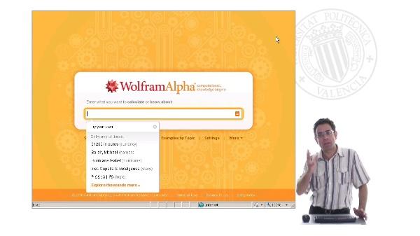 Motores de cálculo: WolframAlpha
