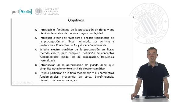 Propagación en Fibras Ópticas. Introducción