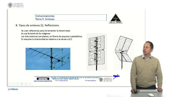 Master RPAS. Asignatura comunicaciones. Antenas, reflectores