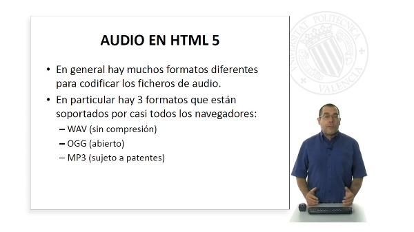 Contenido multimedia HTML 5