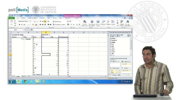 Filtrando los datos mostrados en la tabla dinámica
