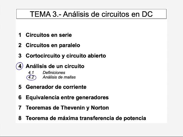 Teoría de Circuitos 1. Lección 3. 4.2.d Análisis de mallas ejercicio alternativa directa