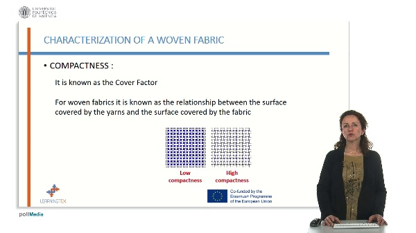 Characterization of fabrics. Compactness