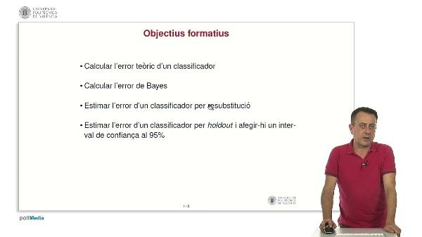 Introducció a l'estimació de l'error en Reconeixement de Formes.