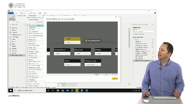 MOOC Power BI. Dependencia de consultas en Power Query