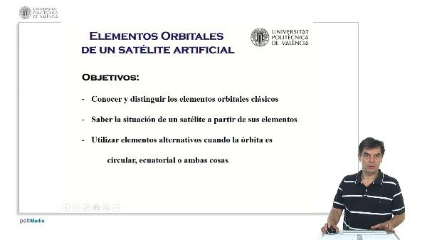 Elementos orbitales de un satélite artificial