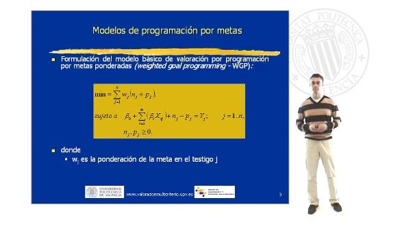 Modelo básico GP con metas ponderadas