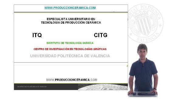 Especialista Universitario en Tecnología de Producción Cerámica