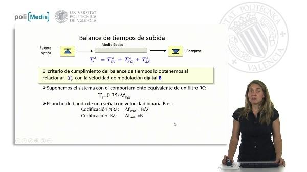 Diseño de un sistema MI-DD: Balance de tiempos
