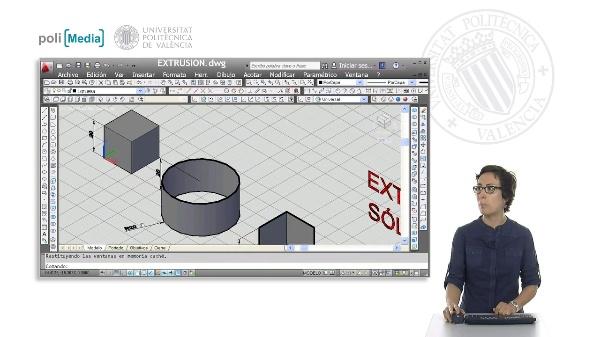 Modelado 3D mediante extrusión con Autocad