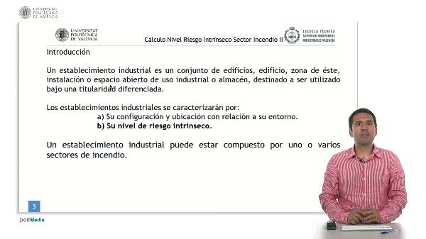 Seguridad contra incendios en establecimientos industriales. Cálculo del Nivel de riesgo Intrínseco Sector Incendio II.
