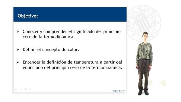 El principio cero de la termodinámica y la definición de temperatura