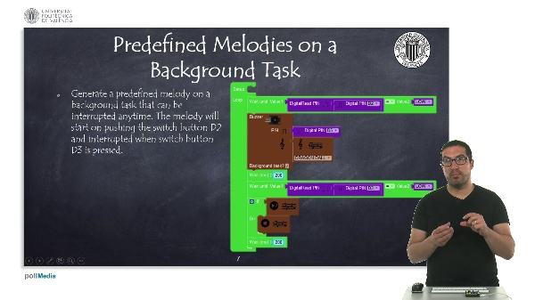 Programming Example: Predefined Melodies on a Background Task