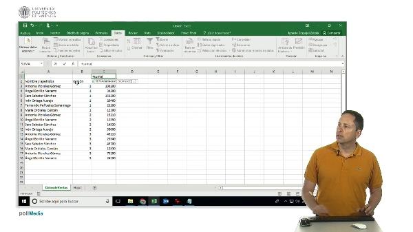 Excel. Subtotales y funciones de texto para crear una clave