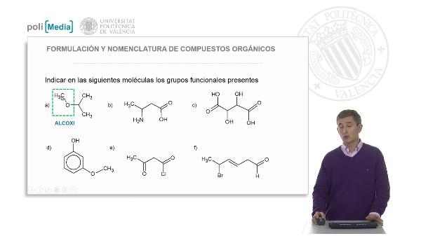Clasificación de los compuestos orgánicos. Grupos funcionales. (Ejercicio práctico-soluciones)