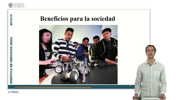 Educación e información de robótica de servicios