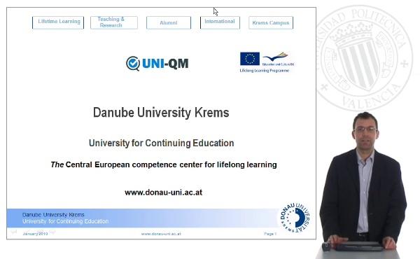 Danube University Krems. The Central European competence center for lifelong learning