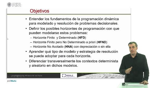 Programación dinámica: introducción y tipología de problemas según horizonte y contexto