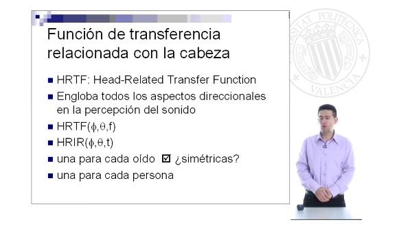 Función de transferencia de la cabeza