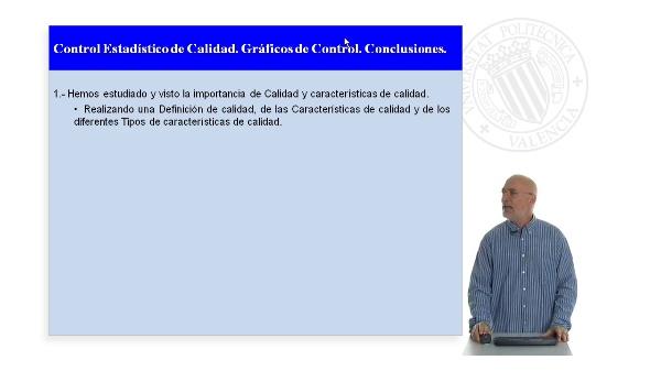 Control Estadístico de Calidad.Gráficos de Control. Conclusiones.