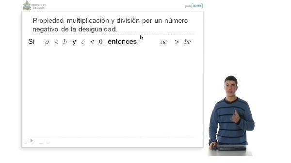 Propiedad 3 de multiplicación y división por un número negativo de las de las Inecuaciones