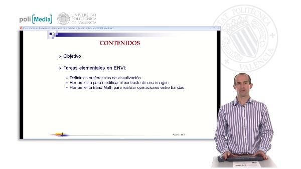Introducción a las herramientas básicas de ENVI: Modificación del contraste y operaciones entre bandas