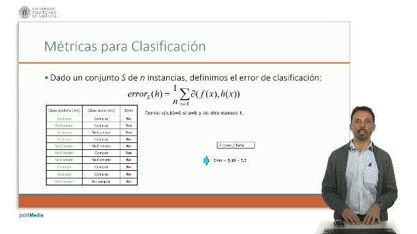 Aprendizaje automático. Métricas para Clasificación