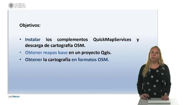 Complementos QuickMapServices y OSMDownloader en QGIS