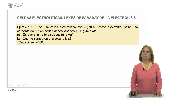Celdas electrolíticas. Leyes de Faraday de la electrólisis ejercicios