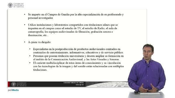 Master Universitario en Postproducción Digital