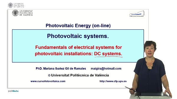 Fundamentals of electrical systems for photovoltaic installations: DC systems
