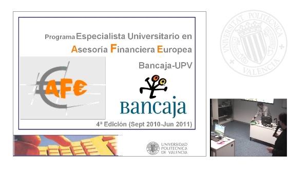 Sesión inaugural AFE (4ª edición BANCAJA)