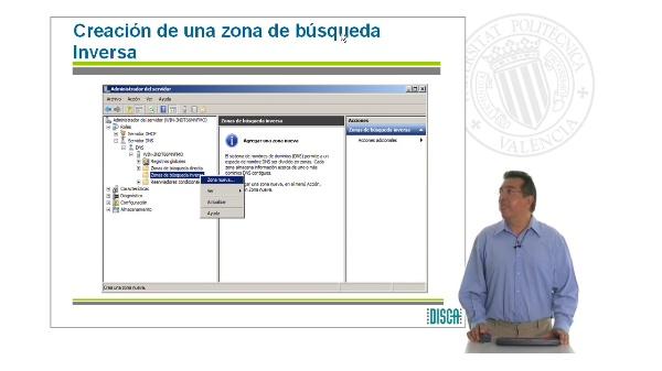 Creación de zona de búsqueda inversa en un Servidor DNS bajo Windows Server 2008 (RAL código 5862)