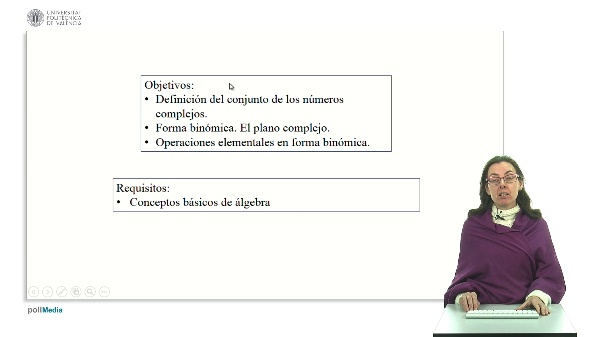 Números complejos con conceptos fundamentales