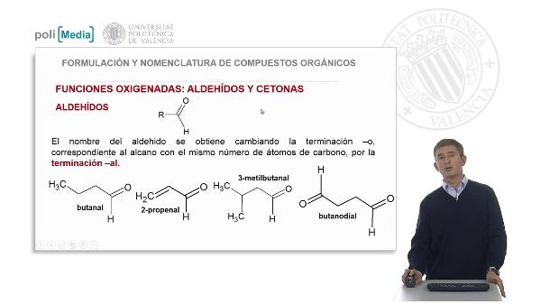 Funciones oxigenadas: aldehídos y cetonas