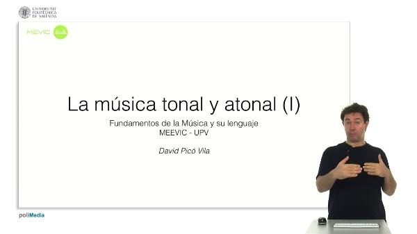 La musica tonal y atonal (I)