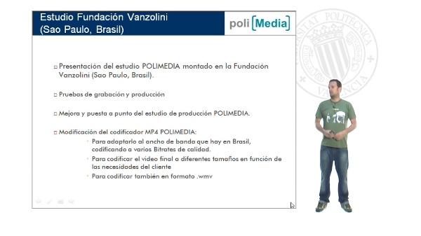 Presentación Estudio POLIMEDIA Fundación Vanzolini, Sao Paulo, Brasil