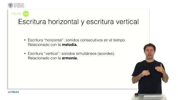 Escritura horizontal y escritura vertical