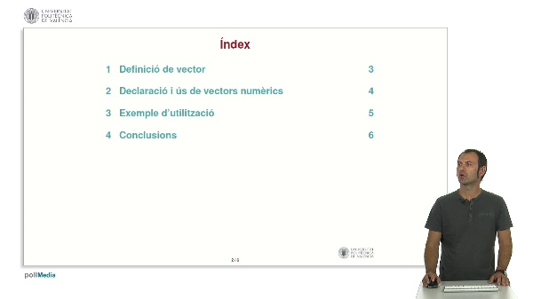 Llenguatge C: Vectors numèrics.