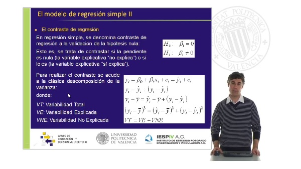 El modelo de regresión simple II
