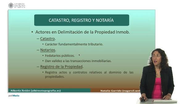 Delimitación de la propiedad inmobiliaria. Catastro y registro