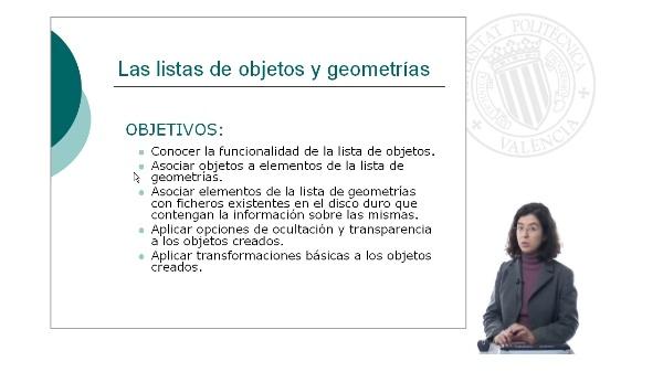 Listas de objetos y geometrías