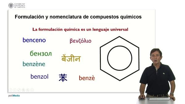 Formulacion y nomenclatura de compuestos quimicos. Presentacion.