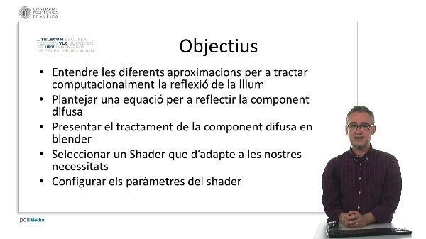 Blender: Materials. Component difusa