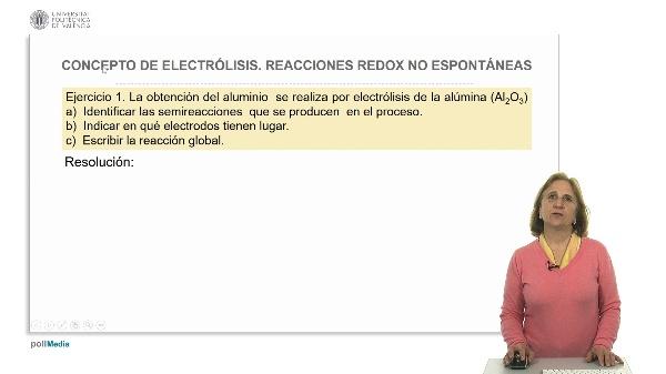 Concepto de electrólisis. Reacciones redox no espontáneas. Ejercicios