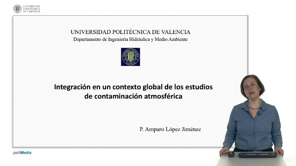 Integración en un contexto global de los estudios de contaminación atmosférica.