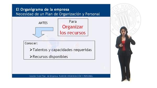 Necesidad de un Plan de Organización y Personal