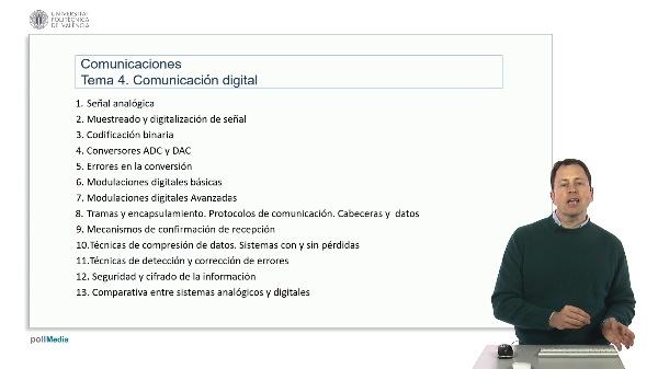 Introducción a las radiocomunicaciones. Índice comunicaciones digitales